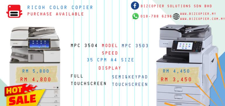 RicohColorCopierMPC3503MPC3504
